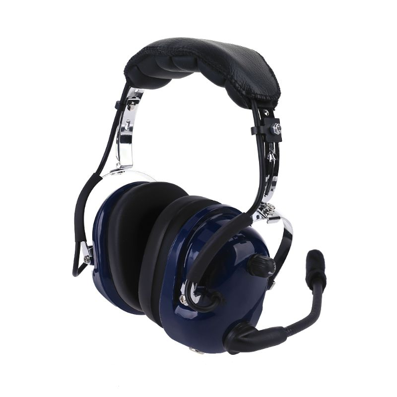 Air RA200 Aviation Pilot Headset with GA Dual Plugs Stereo Mono Switch MP3 Music Input Noise Reduction Includes Headset Bag Gel