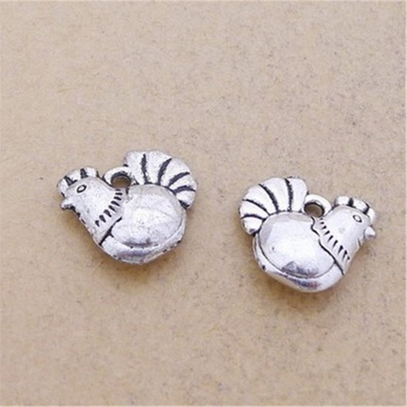 10 Cartoon Hen Charms 13*13MM Chicken Charms for Jewelry Making  - buy with discount