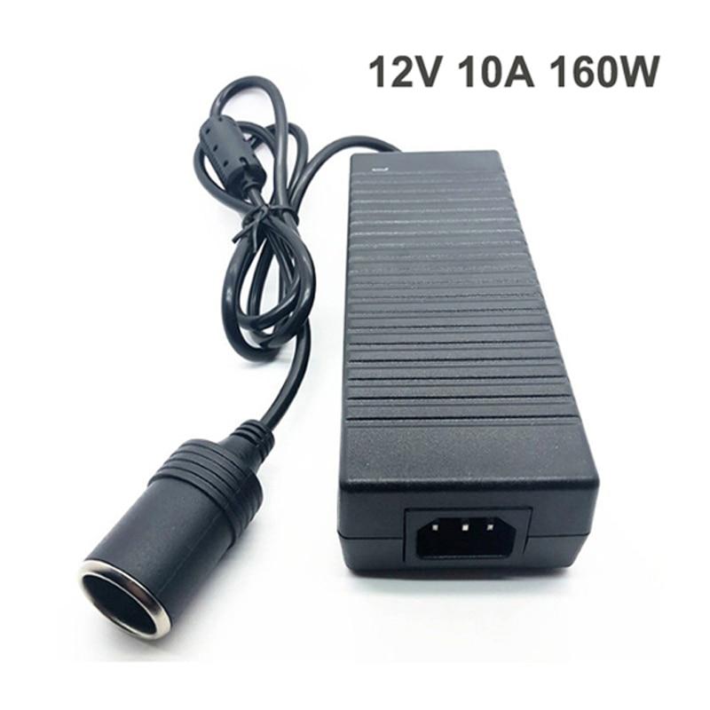 Car Power Adapter Cigarette Lighter Converter Power Convert AC Adapter DC 110V/ 220V to 12V 10A Power Adapter Supply Lighter