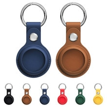 For Apple Airtags Case Leather Keychain Protective For Airtag Tracker Locator Device Anti-lost For a