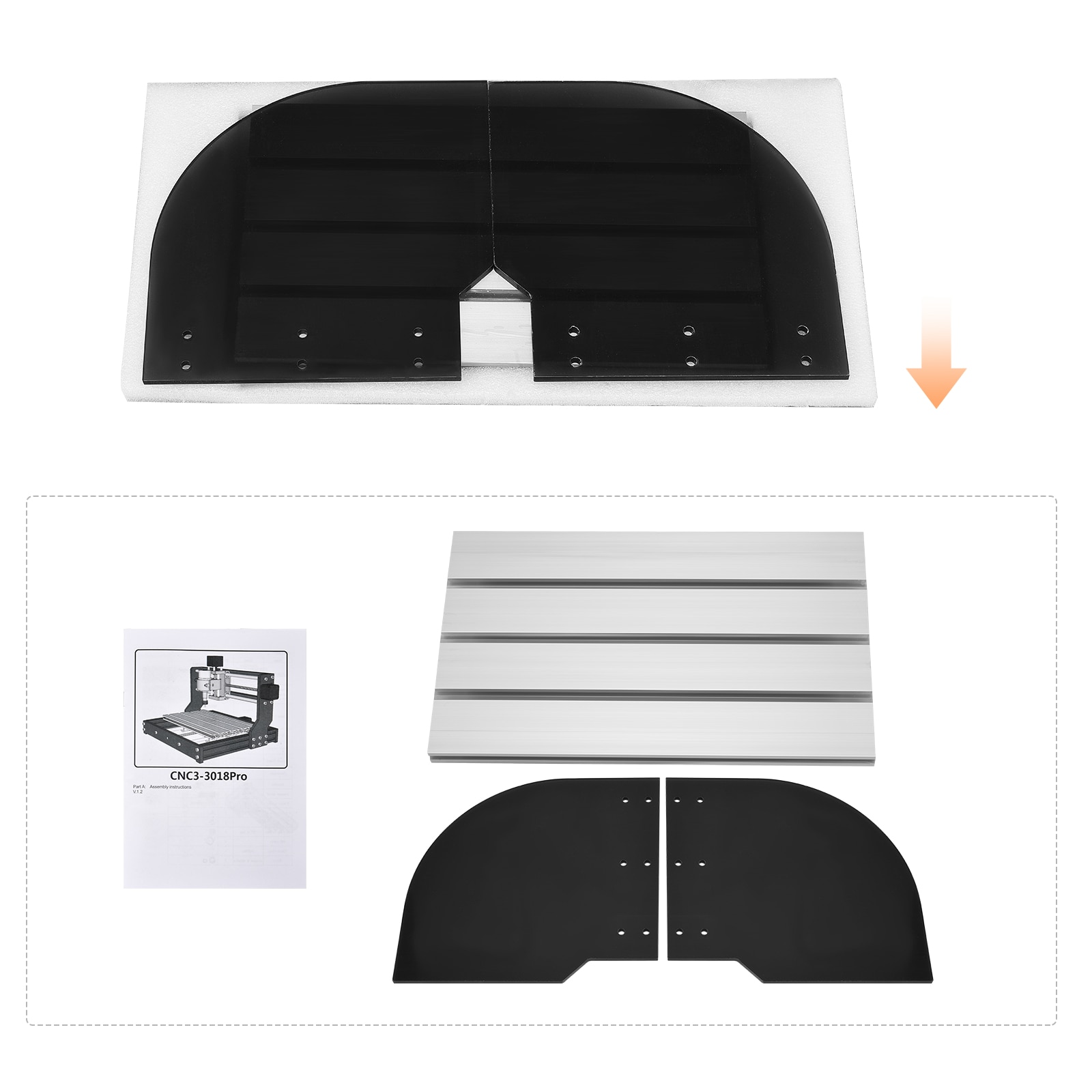 CNC 3018 Pro CNC Engraving Machine Kit GRBL Control DIY Mini CNC Machine Router Engraver Machine 3 Axis PCB Milling Machine PVC enlarge