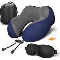 inflatable u shaped pillows massage travel pillow 100 pure memory foam neck pillow outdoor portable neck travel pillow