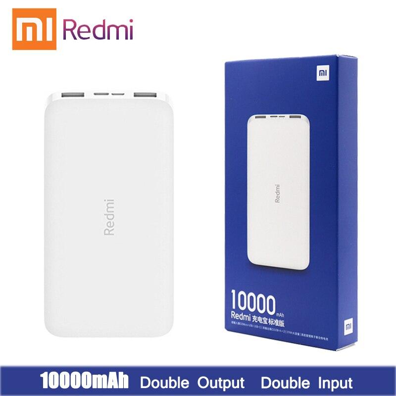 Mais novo xiaomi redmi original power bank carga rápida 10000 mah powerbank carregamento rápido carregador portátil