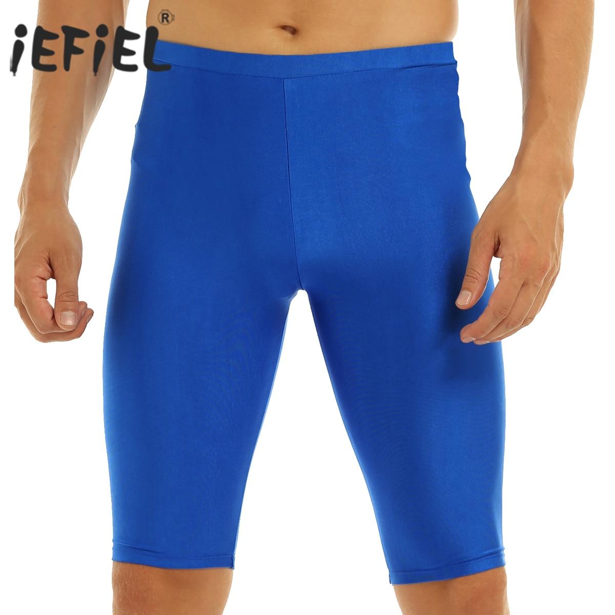 IEFiEL, ropa de playa de verano para hombre, pantalones cortos elásticos de ocio, suspensores, bolsa de bulto, leotardo de gimnasia Sexy corto para hombre