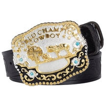 House And Cross Big Buckle Genuine Leather Casual Belt for Fashion Men