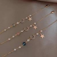 2021 new japan moon star hollow enamel sweet fantasy gold metal plated bracelet for women girls jewelry accessories gifts