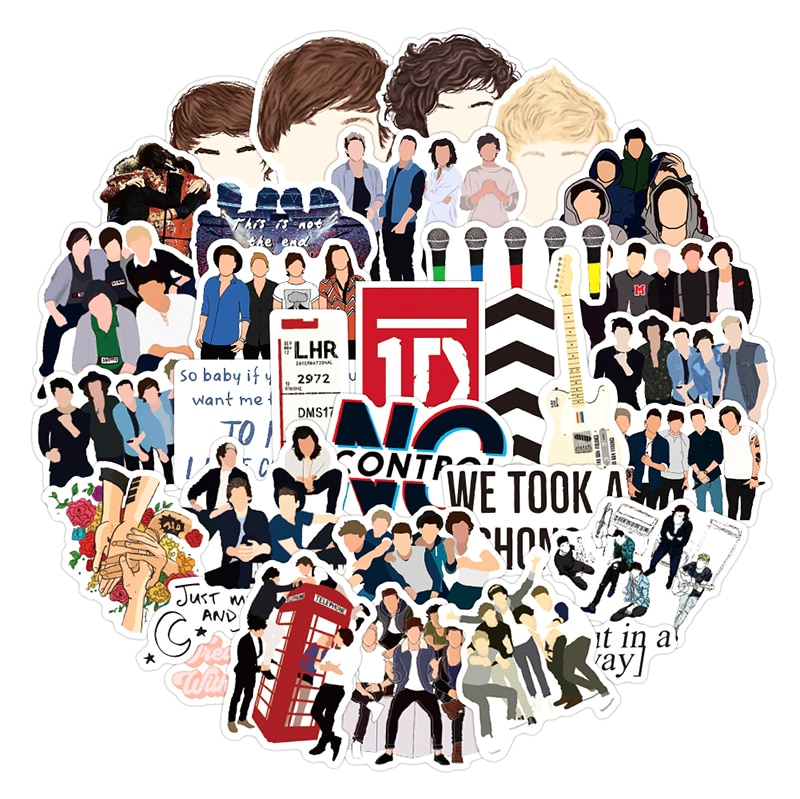 10/30/50pcs/pack Popular Singers One Direction Graffiti Stickers For Skateboard Box Computer Notebook Car Decal Children's Toy
