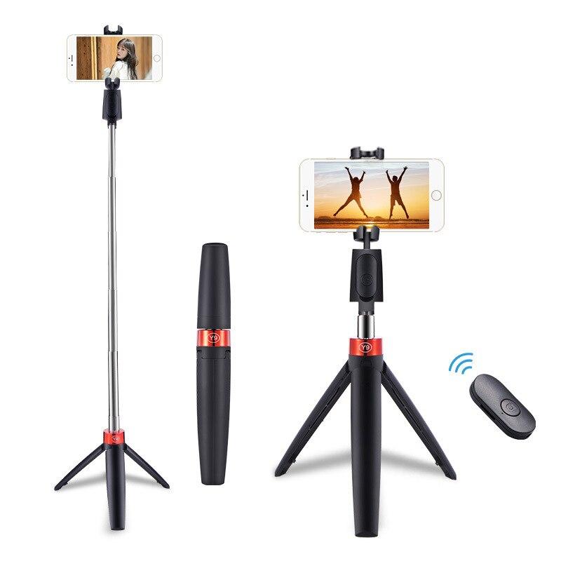 Беспроводная селфи-палка Y9 3 в 1, складной штатив, Универсальные Моноподы Для смартфонов, спортивных экшн-камер