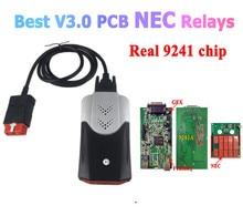 Лучший диагностический сканер V3 V3.0 PCB NEC, реле 9241, чип VD DS150E CDP 2017.R3 Keygen, Bluetooth, диагностический инструмент для автомобилей delicht, грузовиков