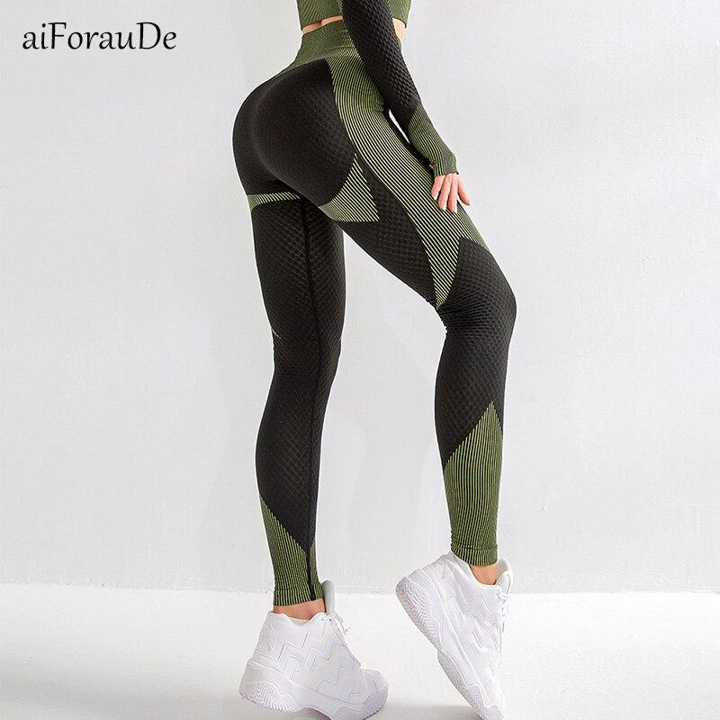 2020 neue Energie Nahtlose Leggings Frauen Fitness Läuft Yoga Hosen Hohe Taille Rennen Trainning Leggings Sexy Push Up Yoga Hosen