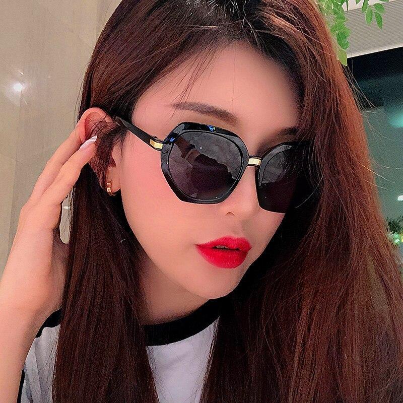 2020 Hexagon Sunglasses Women Brand Designer Small Square Sunglases Men Metal Frame Driving Glasses