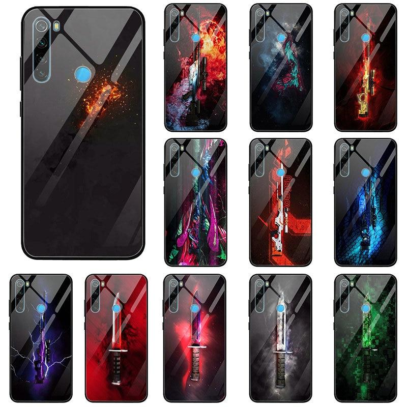 Counter Strike Cs ir armas fundas de teléfono de cristal templado para Xiaomi Redmi Note 4 4X 5 5 5 6 6 7 8 9 SE A1 A2 Lite Coque Shell