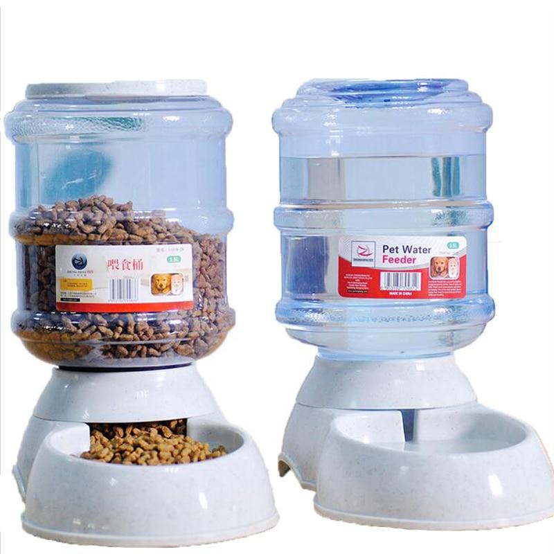 Animal de Estimação Tigela para Cão Peças Bebendo Tigela Gato Alimentador Automático Fonte Água Bebedores Automáticos 2 – Set