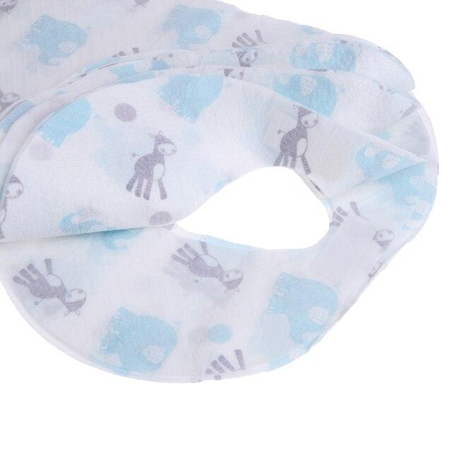 10/20pcs/lot Sterile Disposable Bib Children Baby waterproof Eat Bibs With Pocket Baby kid scarf bib saliva towel bib Convenient 8