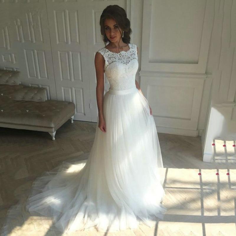 Robe De Mariee Long Suknia ślubna Vestidos Satin Wedding Dress Robe De Soiree Longue Formal Simple Vestido De Novia Bride To Be