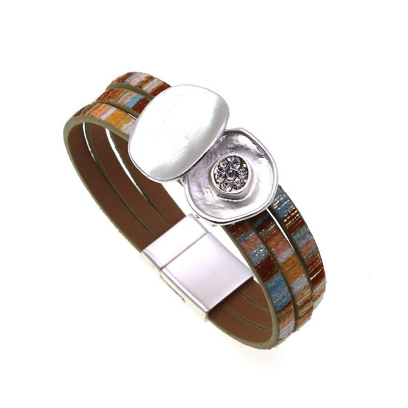 Leopard Leather Bracelets For Women 2020 Fashion Bracelets & Bangles Elegant Multilayer Wide Wrap Bracelet Jewelry