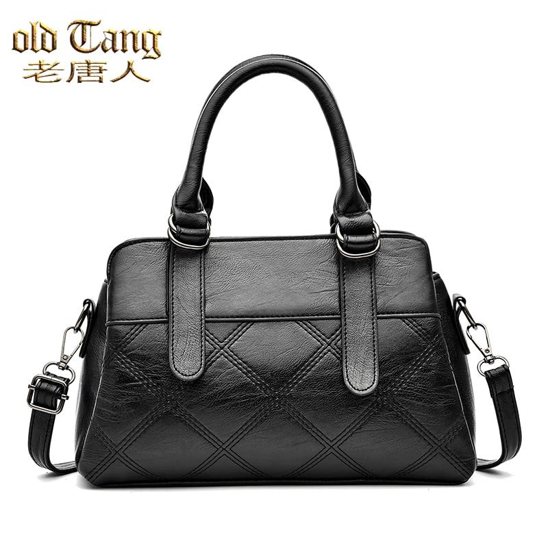 OLD TANG Diamond Lattice Leather Shoulder Bags for Women 2021 Designer Luxury Handbags Fashion Casua