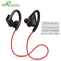Спортивная мини-гарнитура Roreta K98, беспроводные Bluetooth наушники с микрофоном для бега, стереозвук и басы, наушники для iPhone 11, Samsung