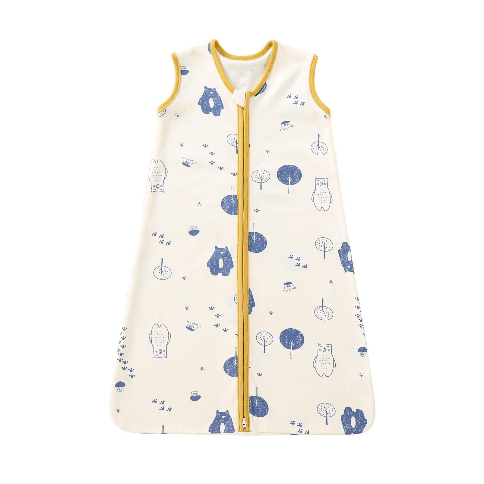 pureborn Newborn Baby Sleepsack Cotton 2-Way Zipper Baby Wearable Blanket Cartoon Bear Fox Sleep Bag Sack Clothes All Season