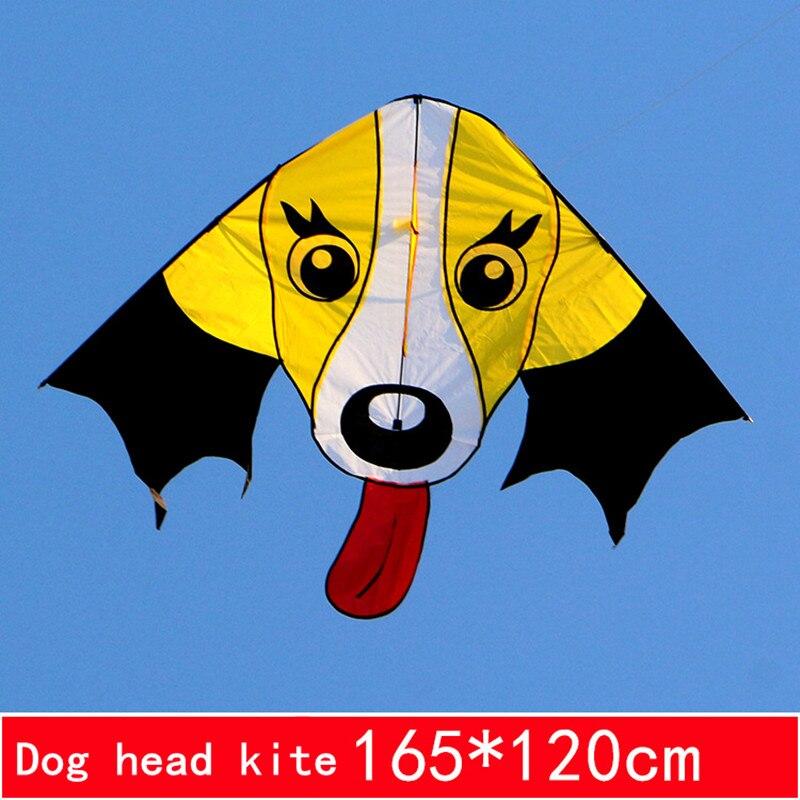 Novo animal cão pipa pipa nylon rasgar-prova esportes ao ar livre voando brinquedo presente das crianças fácil de voar única linha pipa de fábrica por atacado