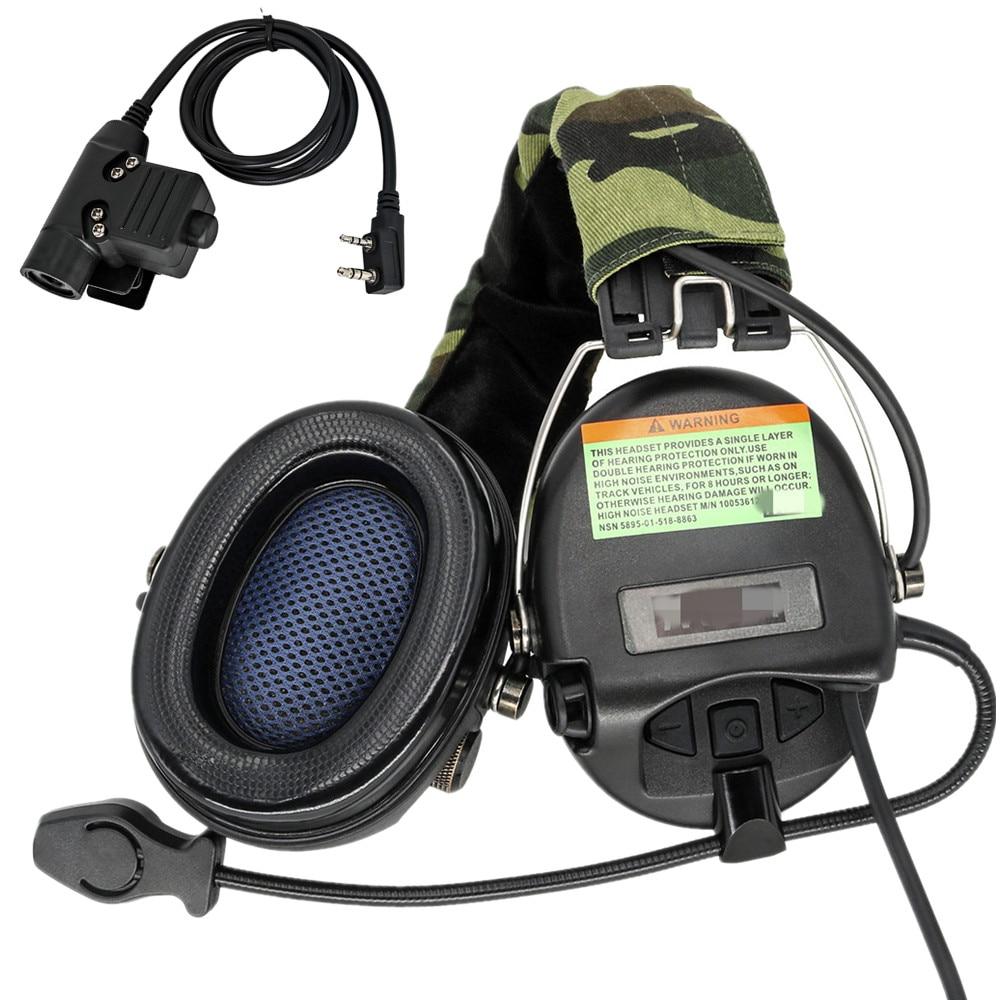 سماعة رأس للتصويب الإلكتروني من tciسماعة رأس MSASORDIN سماعة رأس عسكرية لاقط للحد من الضوضاء سماعات أذن لحماية السمع