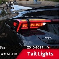 for car toyota avalon 2018 2020 tail lamp avalon led fog lights day running light drl tuning car accessories tail lights