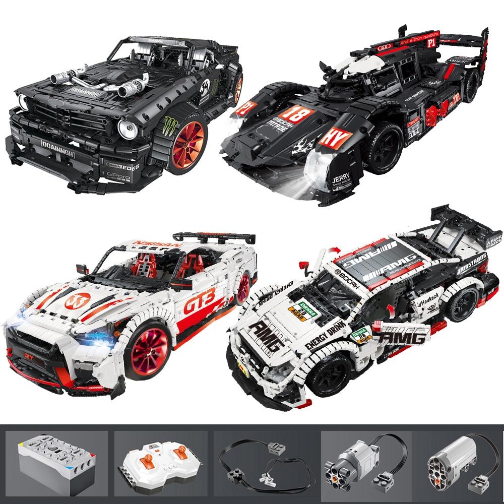 23009 Ford Mustang Hoonicorn RTR V2 гоночный автомобиль с функцией питания светодиодный светильник Technic 20102 MOC-22970 строительные блоки для детей