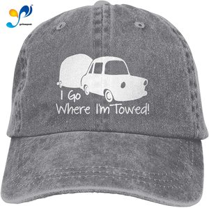 Yellowpods I Go Where I'm Towed Casquette Baseball Dicer Vintage Adjustable Casquette Cap Cowboy Hat Shading Function Unisex