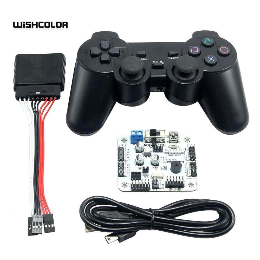 Placa de Control de servomotor de 32 canales y controlador PS 2 + receptor para Robot Hexapod Spider 17DOF Robtics