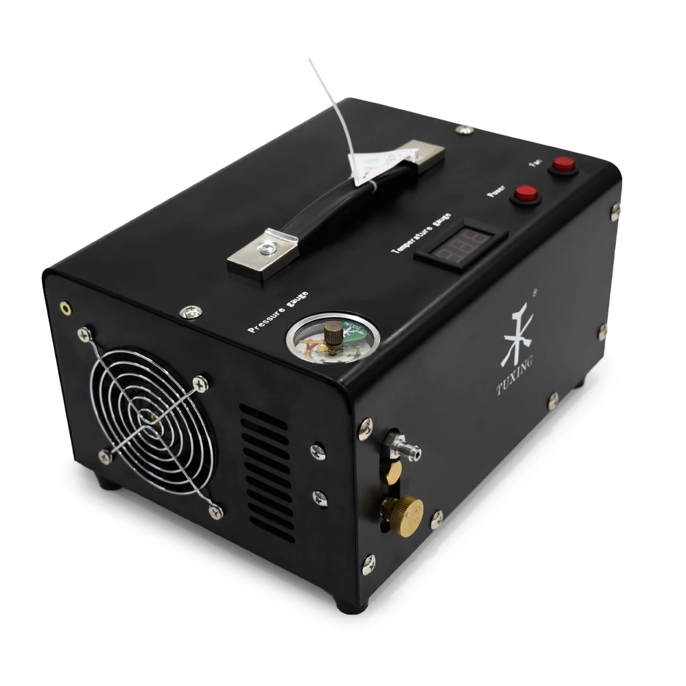 TUXING TXET061 4500Psi 300Bar 12 فولت PCP ضاغط الهواء مضخة عالية الضغط ضاغط محول Airgun الهوائية بندقية نافخة