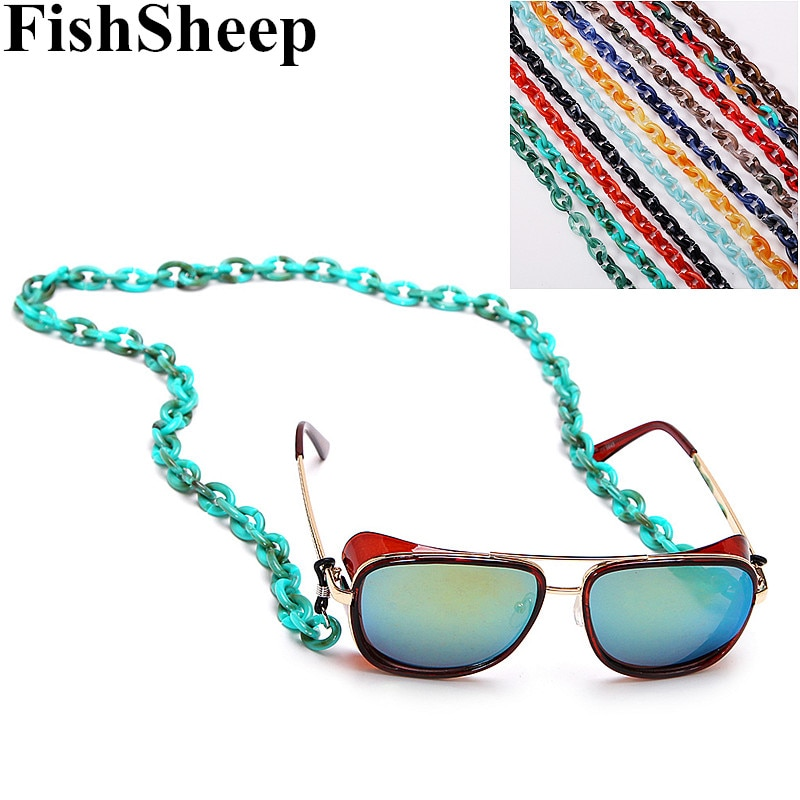 FishSheep 70cm New Acrylic Chain Sunglasses Reading Glasses Adjustable Hanging Thin Lanyard Cord Holder Neck Strap