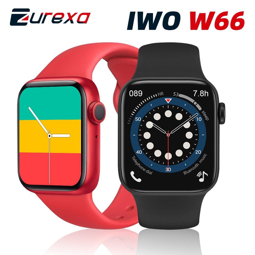 Zurexa IWO W66 Smart Watch Men Women Bluetooth Call Waterproof IWO 14 Heart Rate Monitor Smartwatch