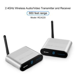 2.4GHz Wireless AV VCD Audio Video Transmitter and Receiver with IR Remote Controls 200 Metres RCA-220 for Transmission