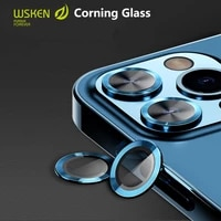 wsken 0 3 rear camera ring for iphone 12 pro max camera lens mini 11 se 8 screen protector corning glass cover protection film