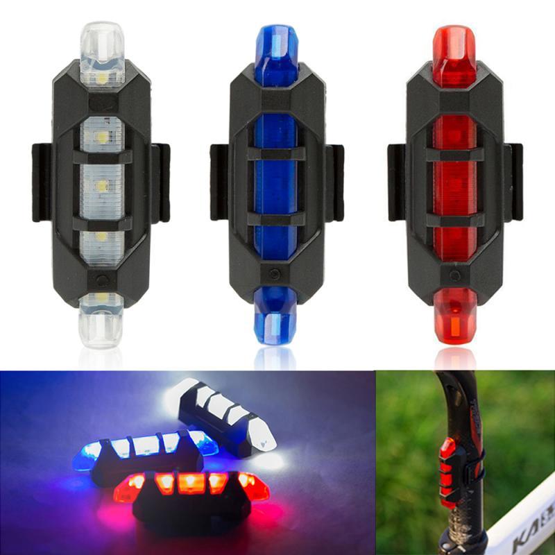 Bicycle Light Safety Warning LED Light Shoulder Clamp Red and blue Strobe Shoulder lights Mountain Bike Rear Tail Warning Light