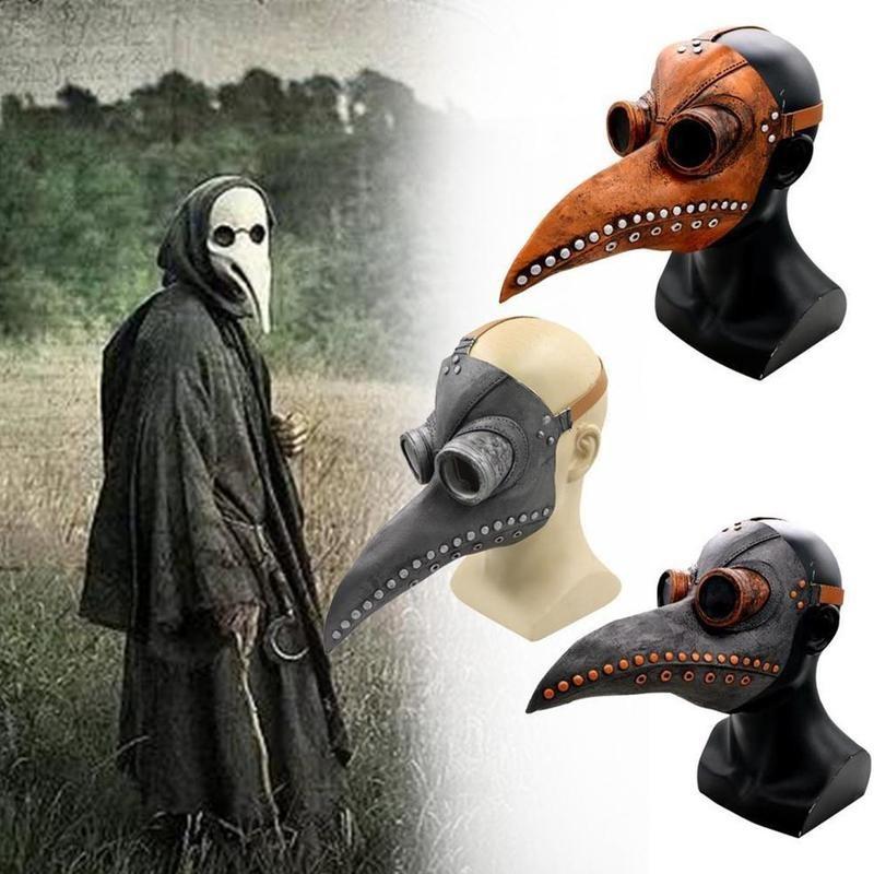 Masque intégral pour Halloween Cosplay, masque facial complet, docteur peste, Long nez, bec doiseau, corbeau, en Latex, accessoires de Costume pour fête dhorreur, Steampunk