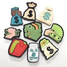 1pcs Money Bag Shoe Decoration Sandals Croc Charms Cartoon Accessories Elegance PVC Badges for Women
