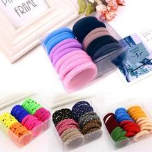 Korean Hair Accessories High Elastic Seamless Rubber Headband Head Rope Hair Band Tie Hair Black Hai