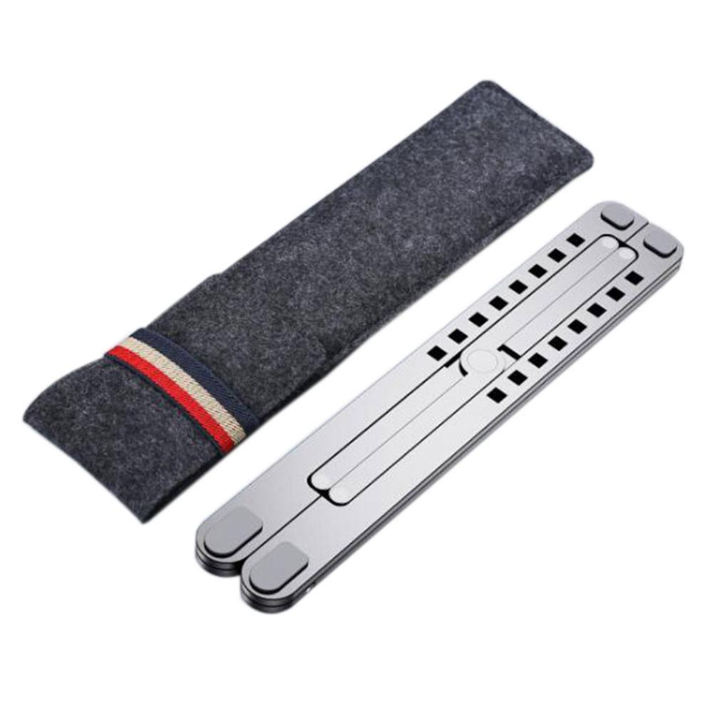 11-17inch Cooling Rack Folding Adjustable Angle Aluminum Alloy Desktop Portable Holder Office Universal Non Slip Laptop Stand
