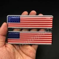 2x metal usa american flag trunk emblem badge motorcycle sticker fairing