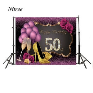 Anniversary Photography Background Photocall Personal Women High-heeled Shoes Birthday Party Photo Shoot Backdrop Customize