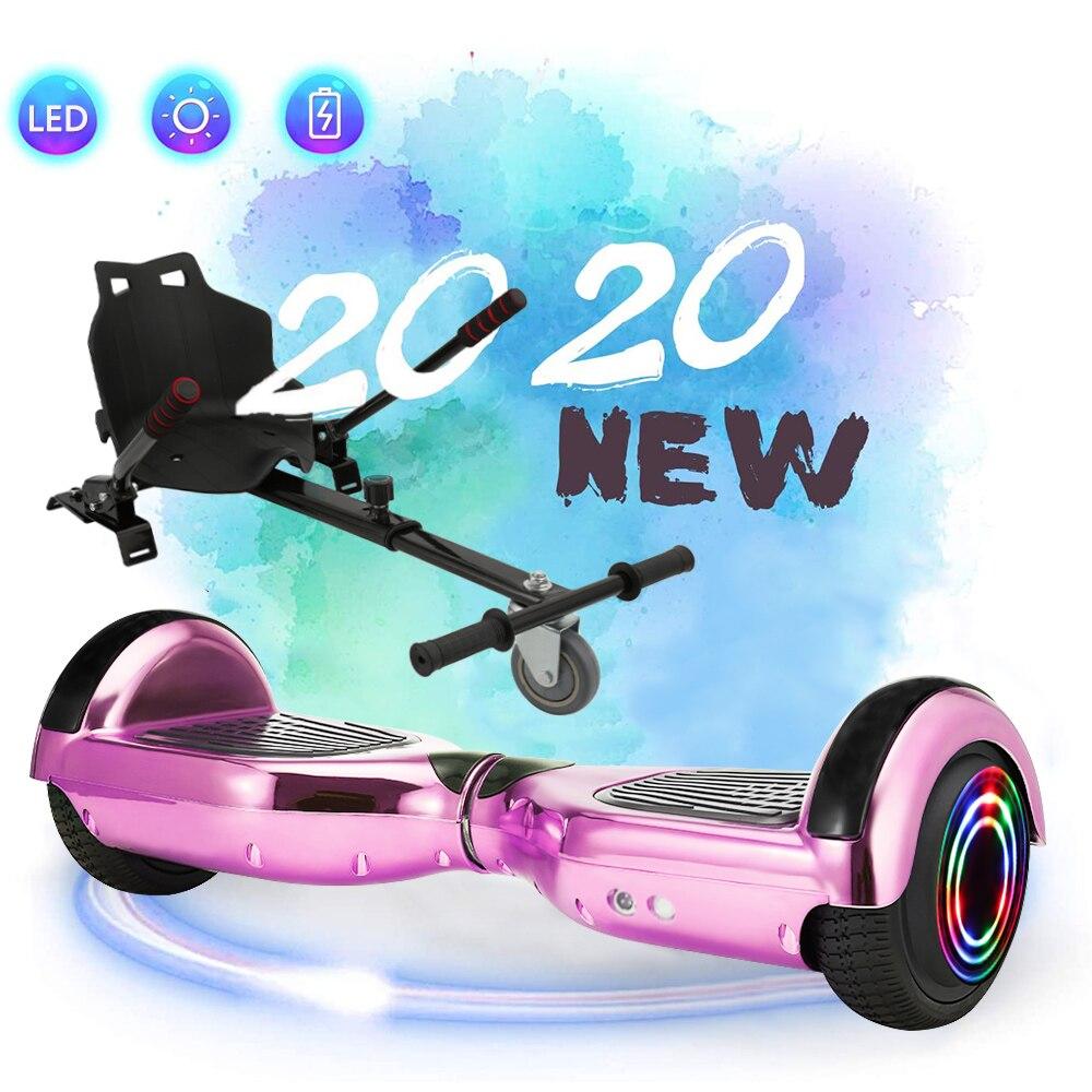 Ul2722 hoverboard 6.5 polegadas bluetooth skate elétrico volante-roda inteligente 2 sheel auto equilíbrio em pé scoote