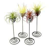 creative black iron air pineapple base plant flower pot rack holder home balcony garden decor supplies landscape accessories