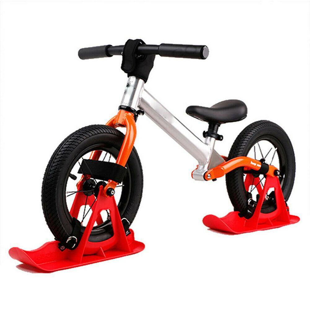 2 uds 12 pulgadas niños Snowboard trineo Tabla de esquí equilibrio bicicleta Scooter rueda piezas