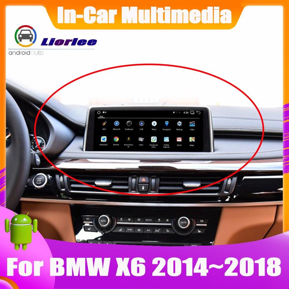Sistema de navegación Android de 10,25 pulgadas GPS para coche para BMW X6 F16 2014 ~ 2018 Radio Audio Video HD pantalla táctil