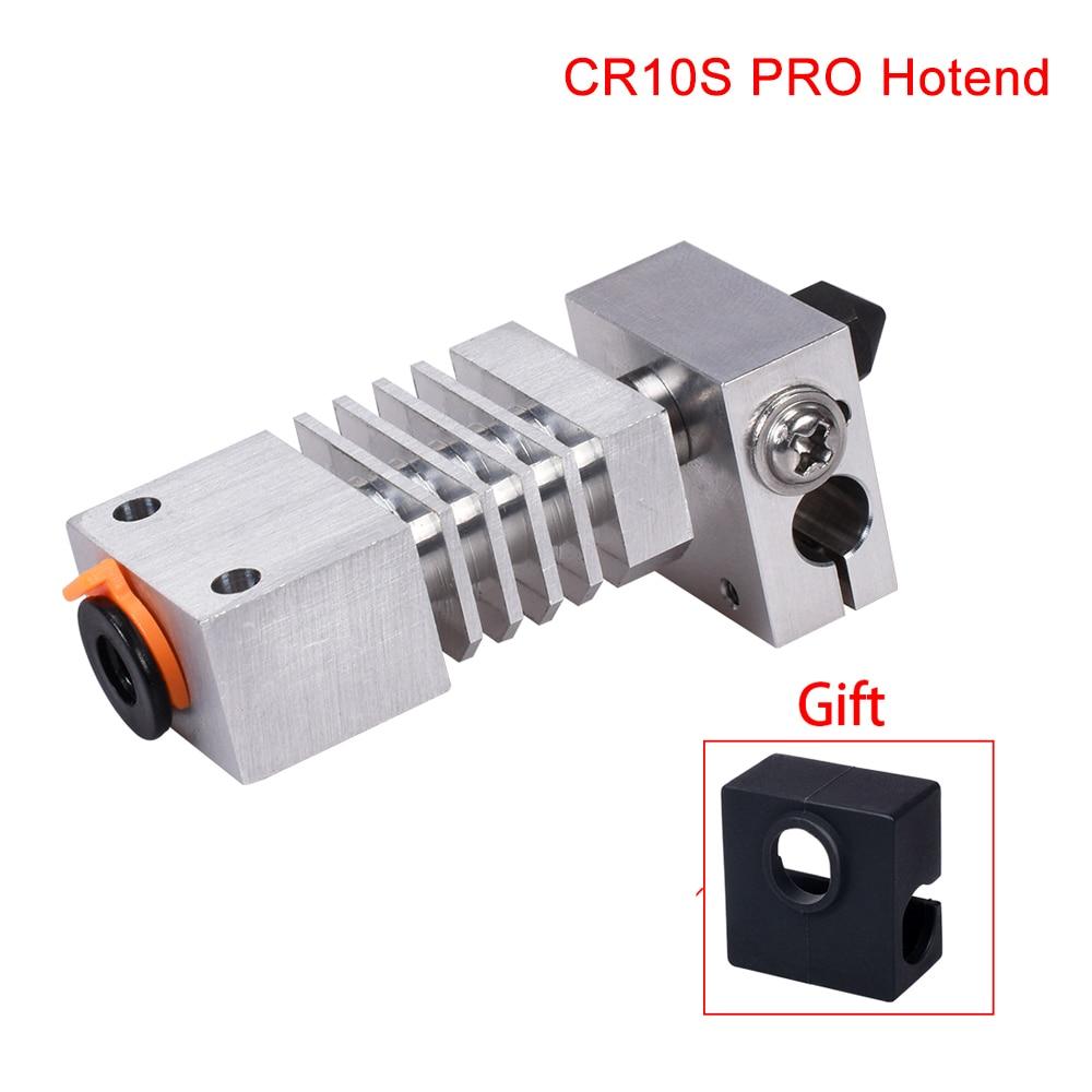 Mejora CR10S PRO Hotend Kit de disipador de calor boquilla de acero endurecido de precisión titanio Rotura de calor 3D piezas de impresora para CR-10S PRO