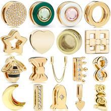 Réflexions briller éblouissante élégance reine abeille cercle couronne pince breloque 925 en argent Sterling perle ajustement mode Bracelet bijoux à bricoler soi-même