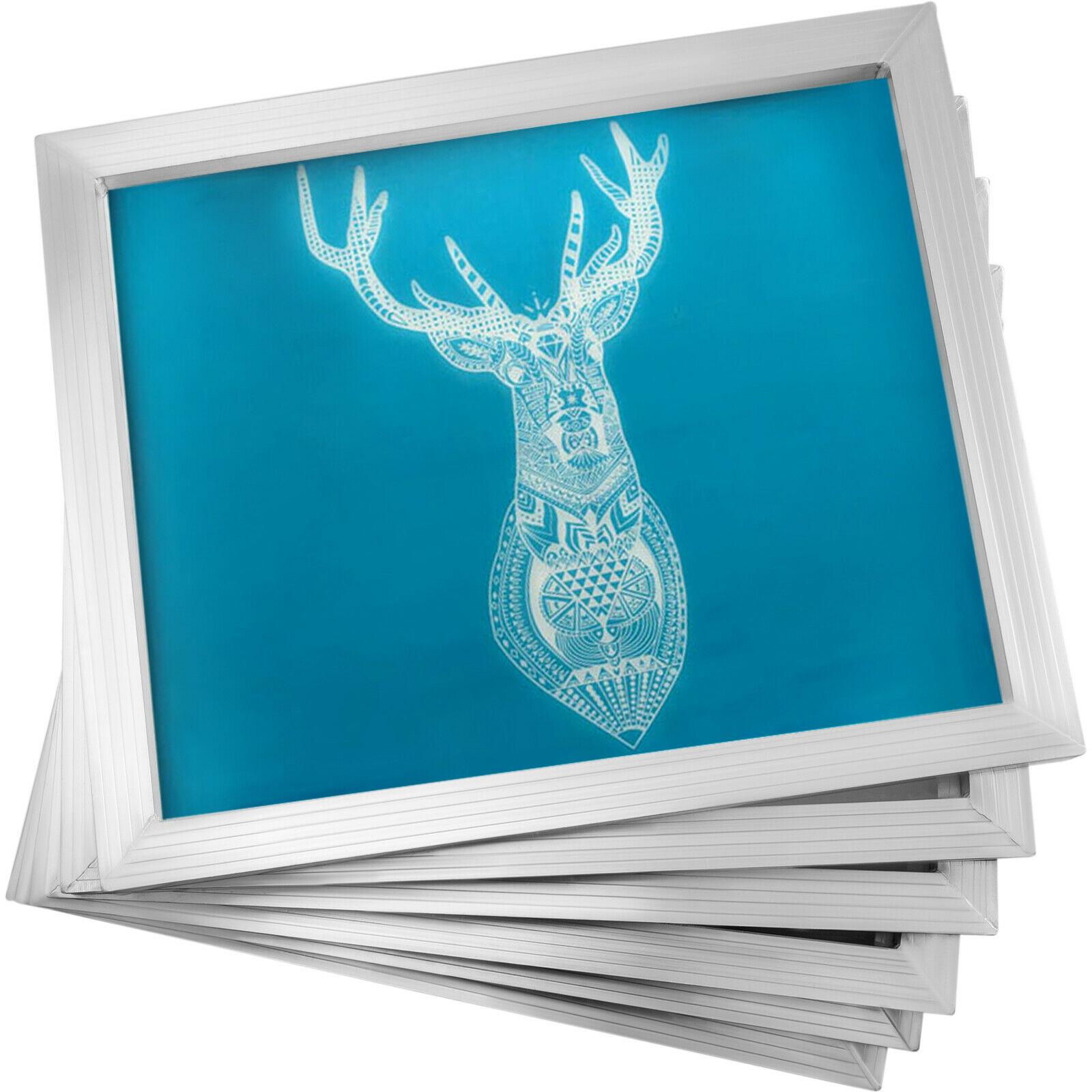 VEVOR إطار من الألومنيوم طباعة الشاشة الحريرية 6 قطع أبيض مختلف شبكة الحبر الضغط التسامي مناسبة لآلة أو دليل
