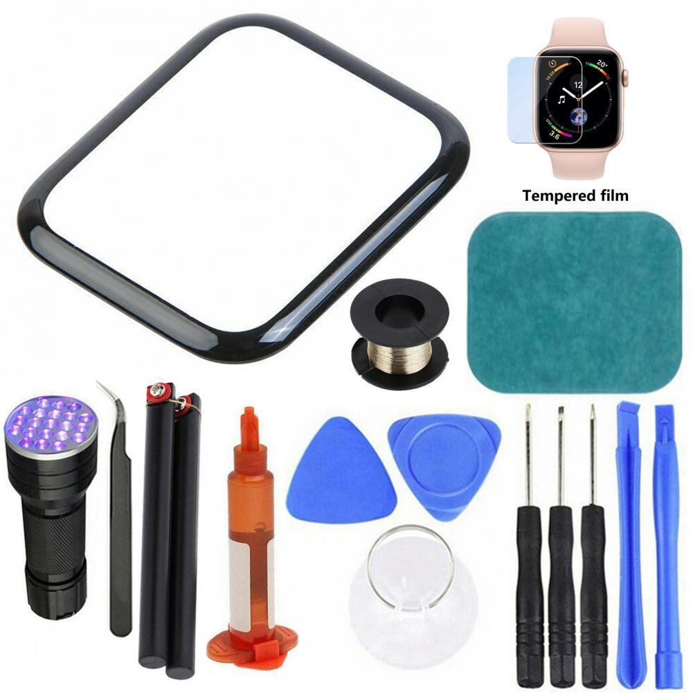 38mm 42mm touch screen digitizer glass lens panel for apple watch series 2 series 3 38mm 42mm touchscreen repiar parts Precise Out Front LCD Glass Cover Replacement UV Glue Touch Screen Repair Kit for Apple Watch 2/3/4/5/6 Series 38mm 42mm 40mm 44