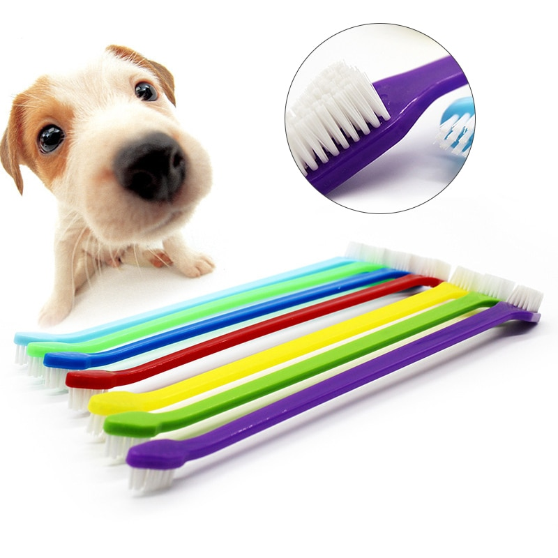 Resuable Cat Dog Brush Bad Breath Remover Portable Pet Toothbrush Hygiene Multi-angle Clean Durable